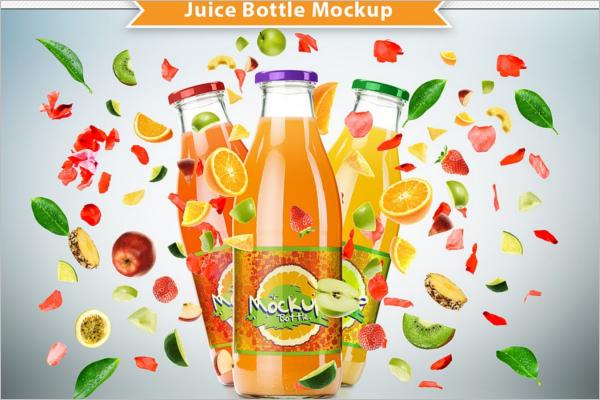 High ResolutionJuice Bottle Mockup Design