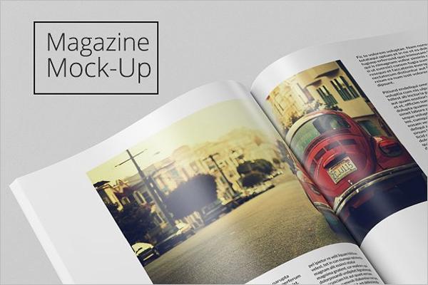High Resolution Magazine Mockup Template