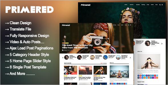 High Resolution WordPress Blog Theme