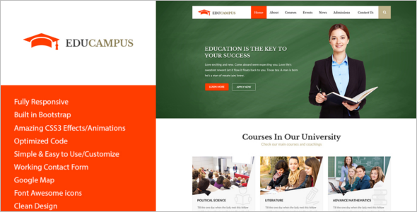 Higher Education HTML Template