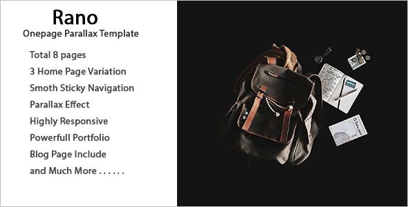 Highly Responsive One Page Parallax HTML Template