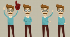 30+ Hipster Character Designs