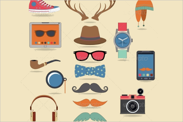 Hipster Character Set Design
