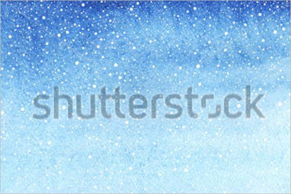 Horizontal Winter Background Design