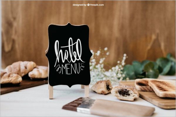 Hotel Breakfast Mockup Design