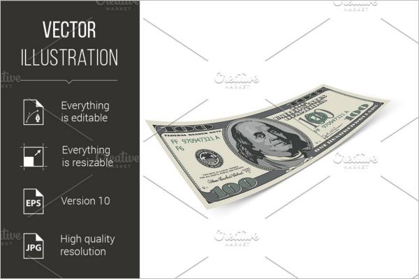 Hundred Dollar Vector Design