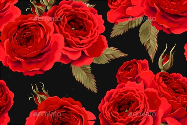 Illustration Rose Seamless Pattern