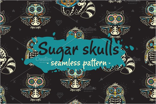 Illustration Skull Seamless Pattern