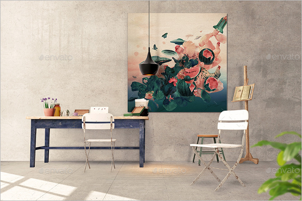 Interior Art Wall Mockup