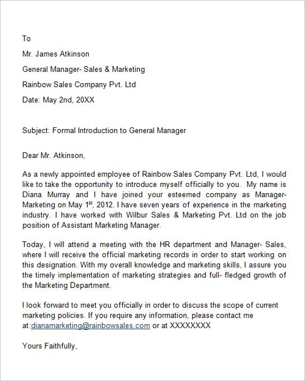 Introduction Letter for Consulting
