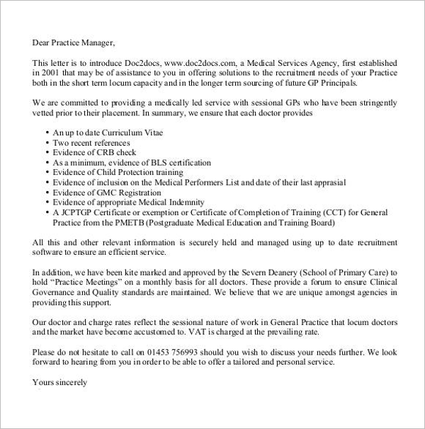 Introduction Letter for New Business