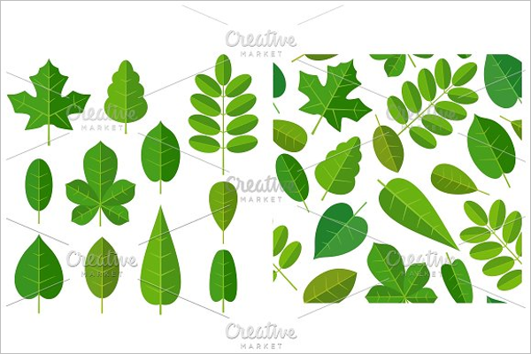 Isolated Leaf Pattern