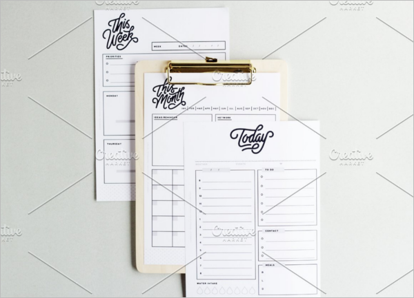 Isolated Planner Template Bundle