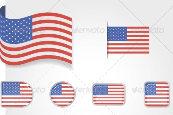 Isolated US Flag Vector