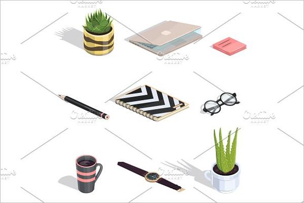 Isometric Background Illustration