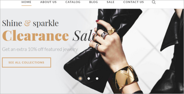 Jewelry Shop Website Template