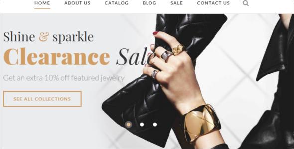 Jewelry Shop Website Template