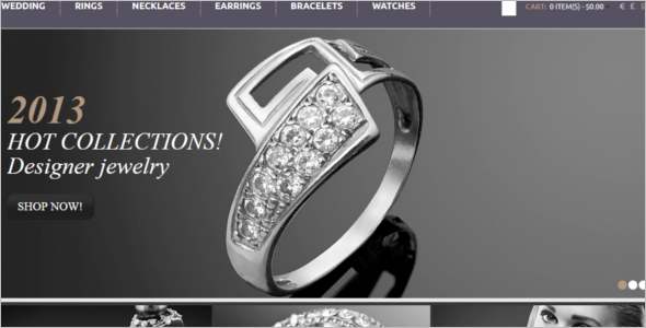 Jewelry in Black & White Ecommerce Template