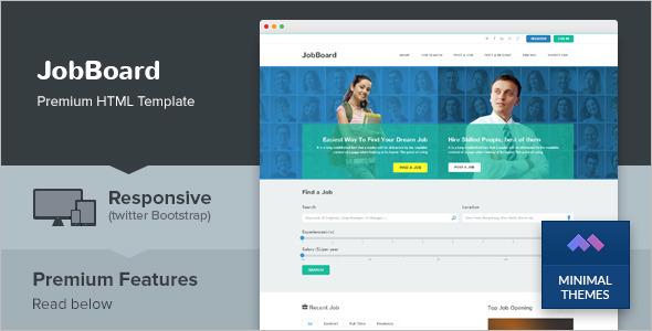 Job Market HTML Template