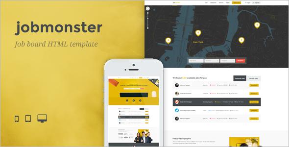 Job Seeker HTML Template