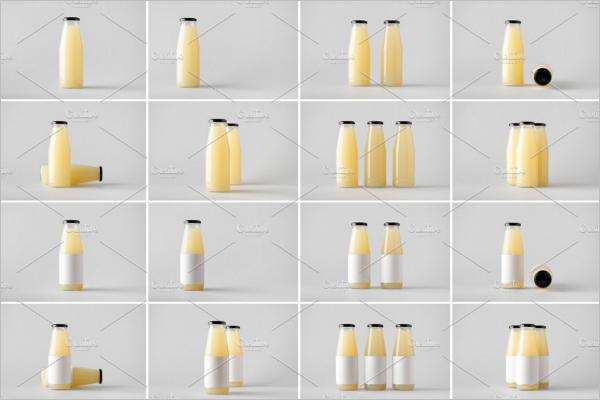 Juice Bottle Bundle Mockup Template