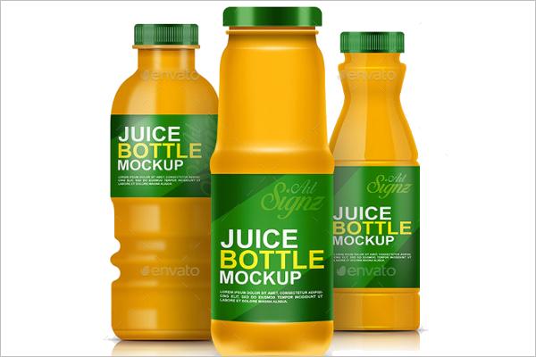Juice Bottle Mockup Design