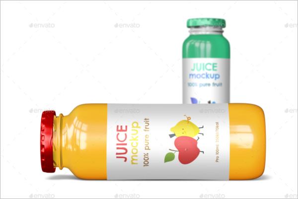 Juice Bottle Mockup PSD Design