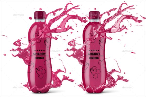 Juice Bottle Mockup Template