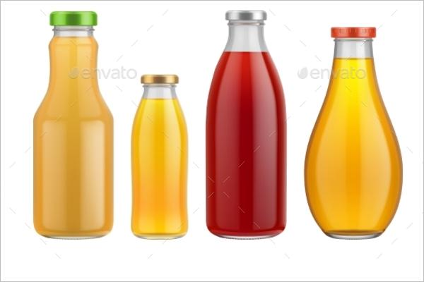 Juice Bottle Set Mockup Design