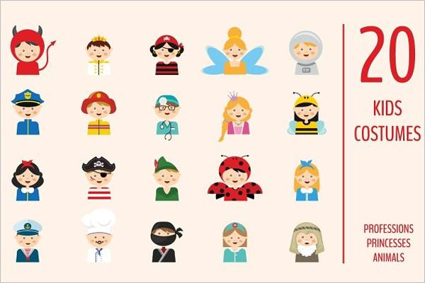 Kids Halloween Icons Background