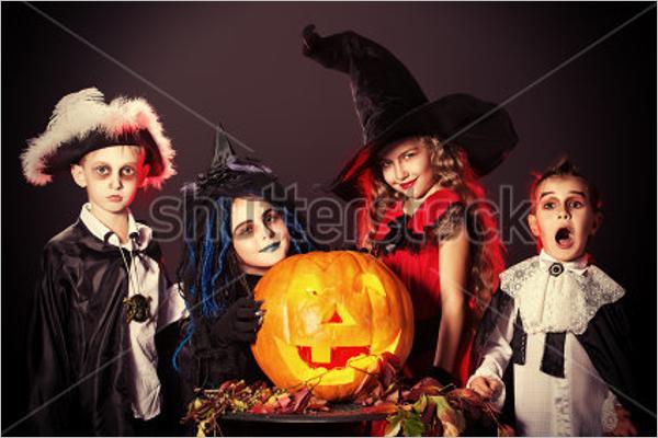 Kids Halloween Pumpkin Background