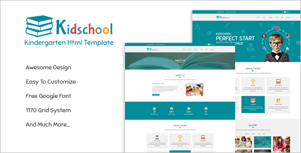 Kids School HTML Template