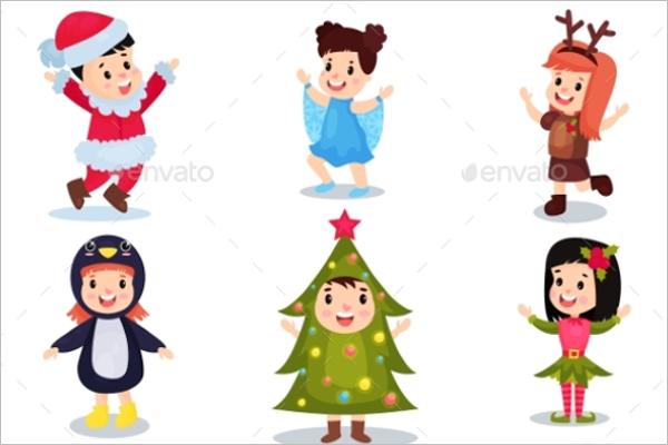 Kids Wearing Christmas Set