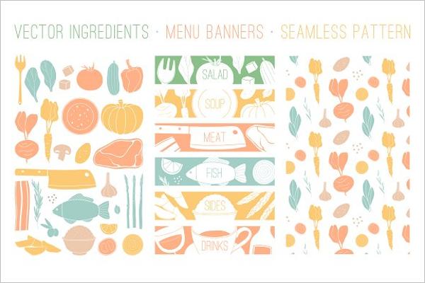 Kitchen Food Set Vector Design
