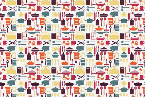 Kitchen Items Pattern Design