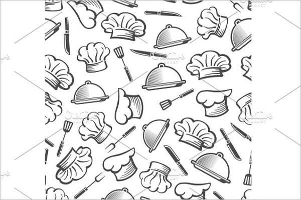 Kitchen Seamless Pattern Design
