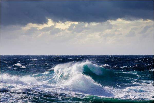 Landscape Ocean Wave Background