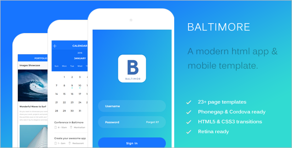 Latest HTML Mobile Template