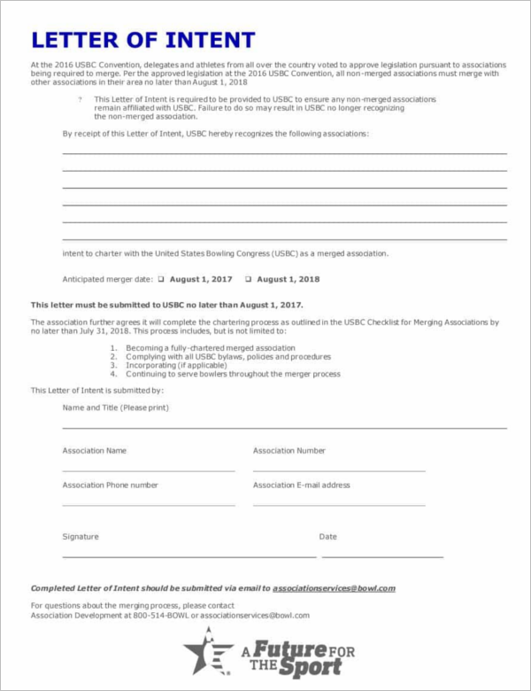 Letter Of Intent For Business Proposal Template