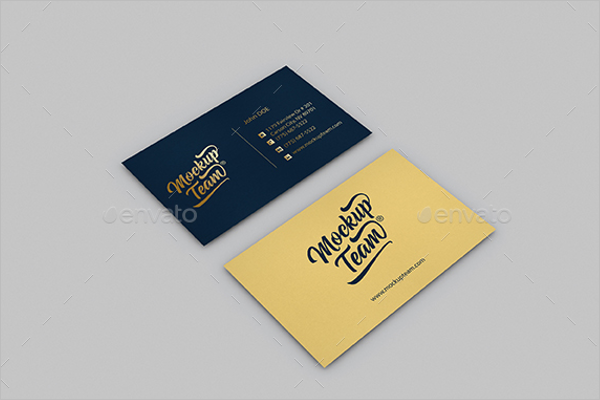 Letterhead Business Card Mockup Template