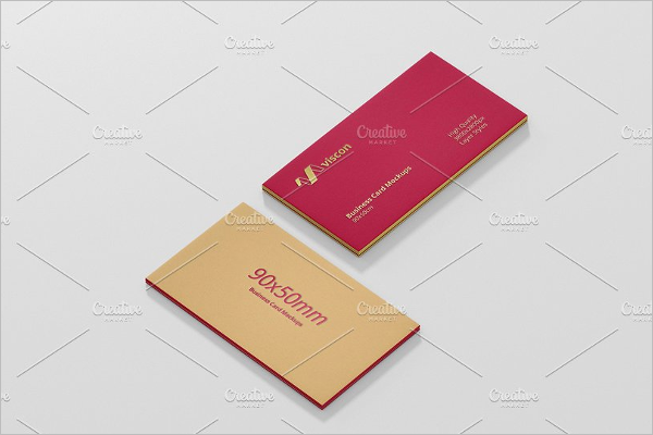 Letterpress Business Card Mockup Template