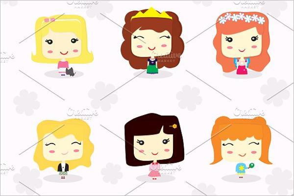 Little Girls Cartoon Character