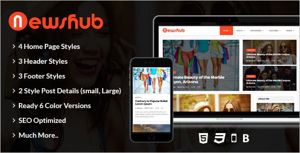 Magazine Blog HTML Template