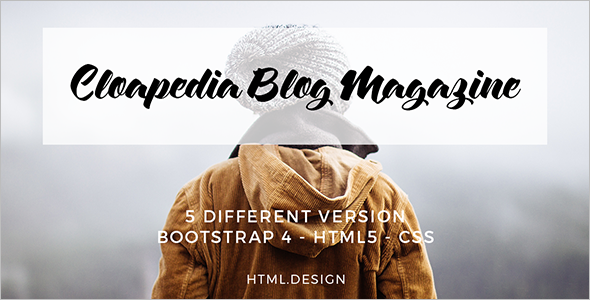 Magazine Blog HTML5 Template