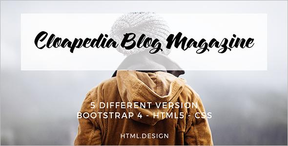 Magazine Blog HTML5 Template
