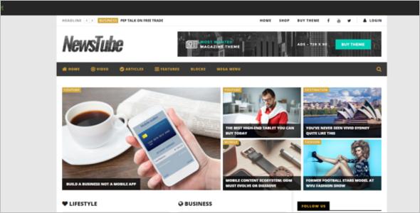 Magazine Blog & Video Template