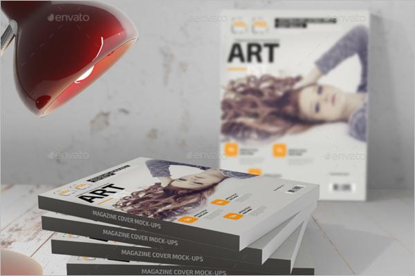 Magazine Cover Mockup PSD Template