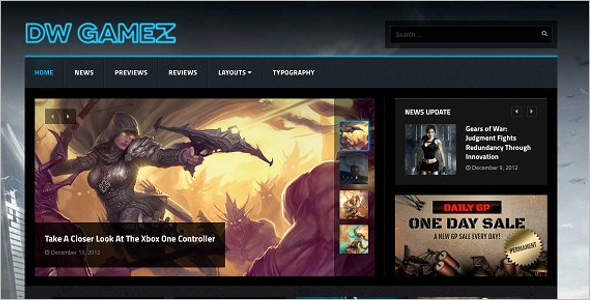 Magazine Gaming WordPress Theme