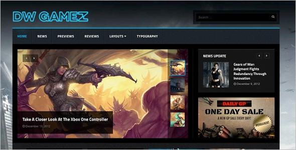 Magazine Gaming WordPress Theme