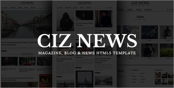 Magazine HTML Template